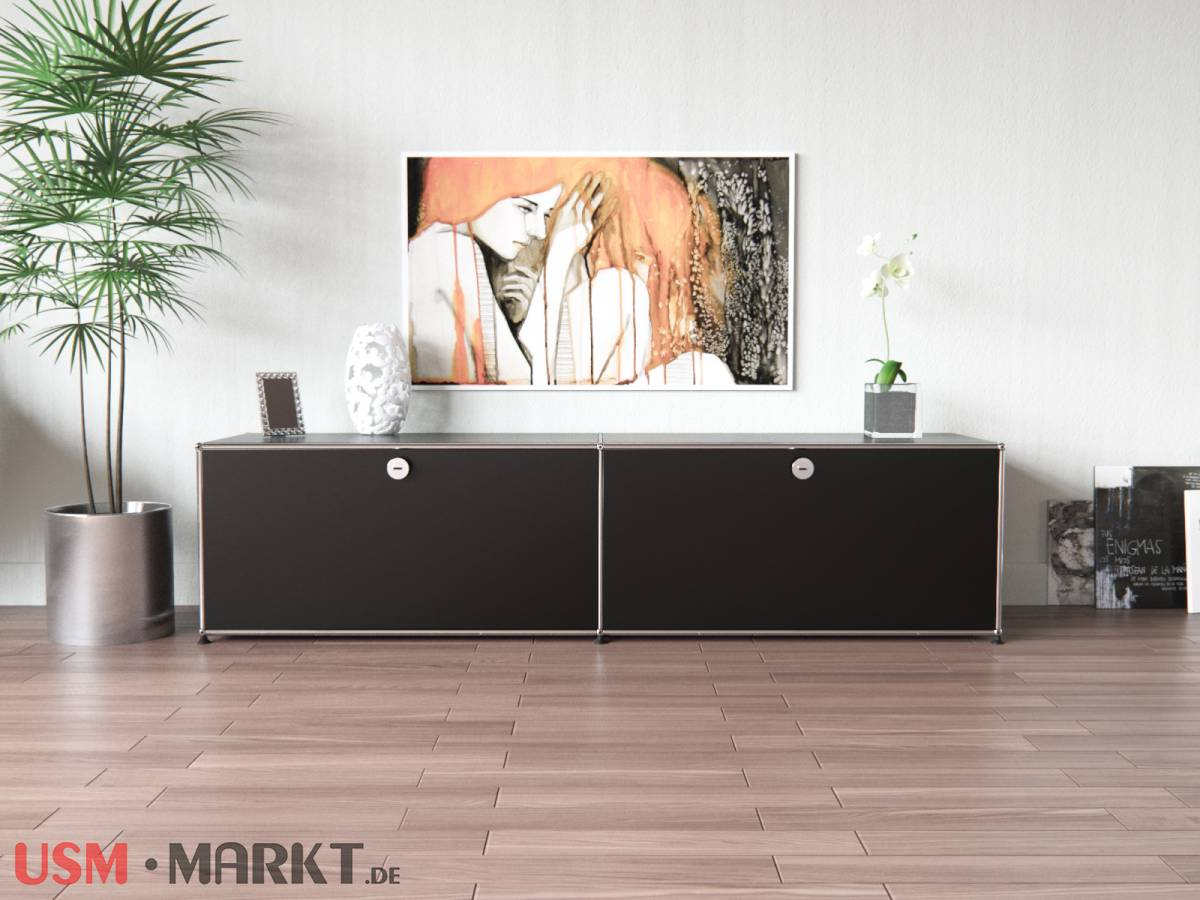 usm haller tv low board 2 breit 1 hoch 2 klappt ren usm markt. Black Bedroom Furniture Sets. Home Design Ideas