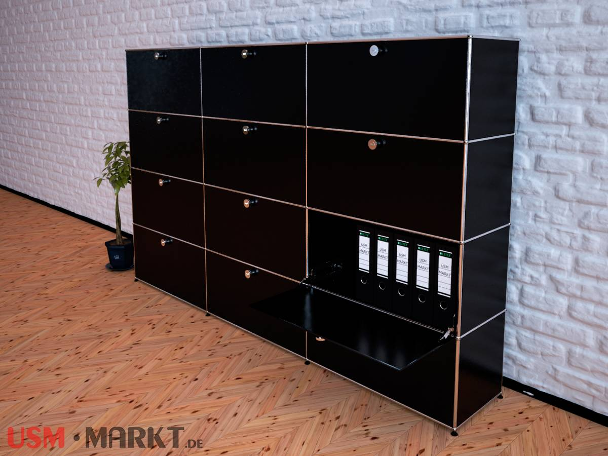 usm haller highboard 3 breit 4 hoch 12 klappt ren usm markt. Black Bedroom Furniture Sets. Home Design Ideas