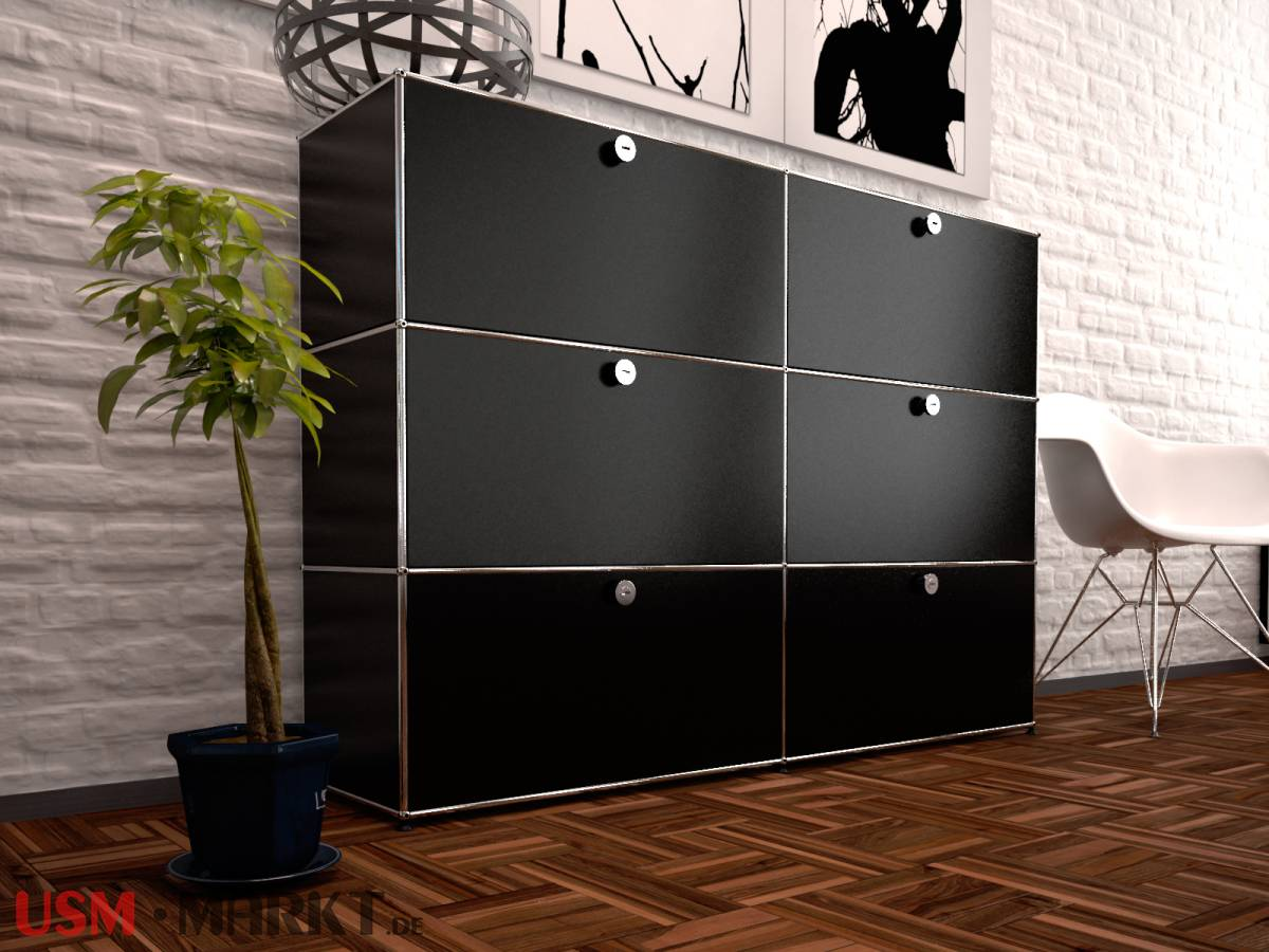 usm haller highboard 2 breit 3 hoch 6 klappt ren usm markt. Black Bedroom Furniture Sets. Home Design Ideas