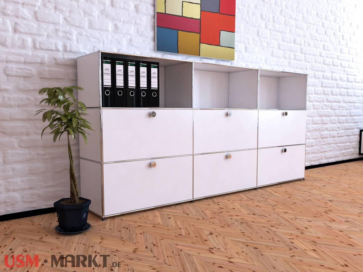 usm haller highboard 3 breit 3 hoch 6 klappt ren usm markt. Black Bedroom Furniture Sets. Home Design Ideas