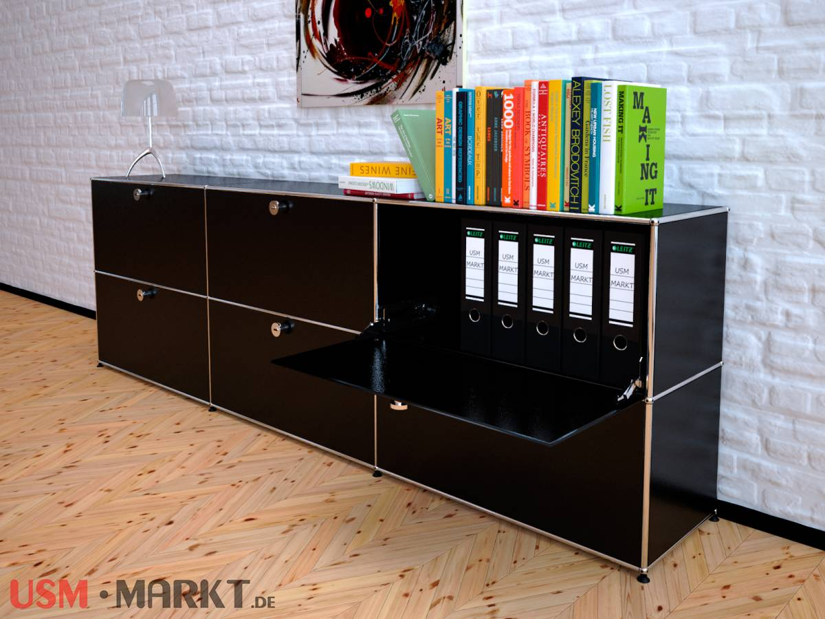 usm haller highboard 3 breit 2 hoch 6 klappt ren usm markt. Black Bedroom Furniture Sets. Home Design Ideas