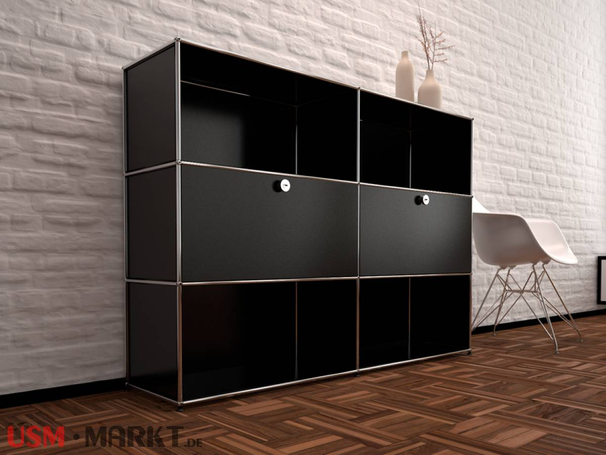 usm haller highboard 2 breit 3 hoch 2 klappt ren usm markt. Black Bedroom Furniture Sets. Home Design Ideas