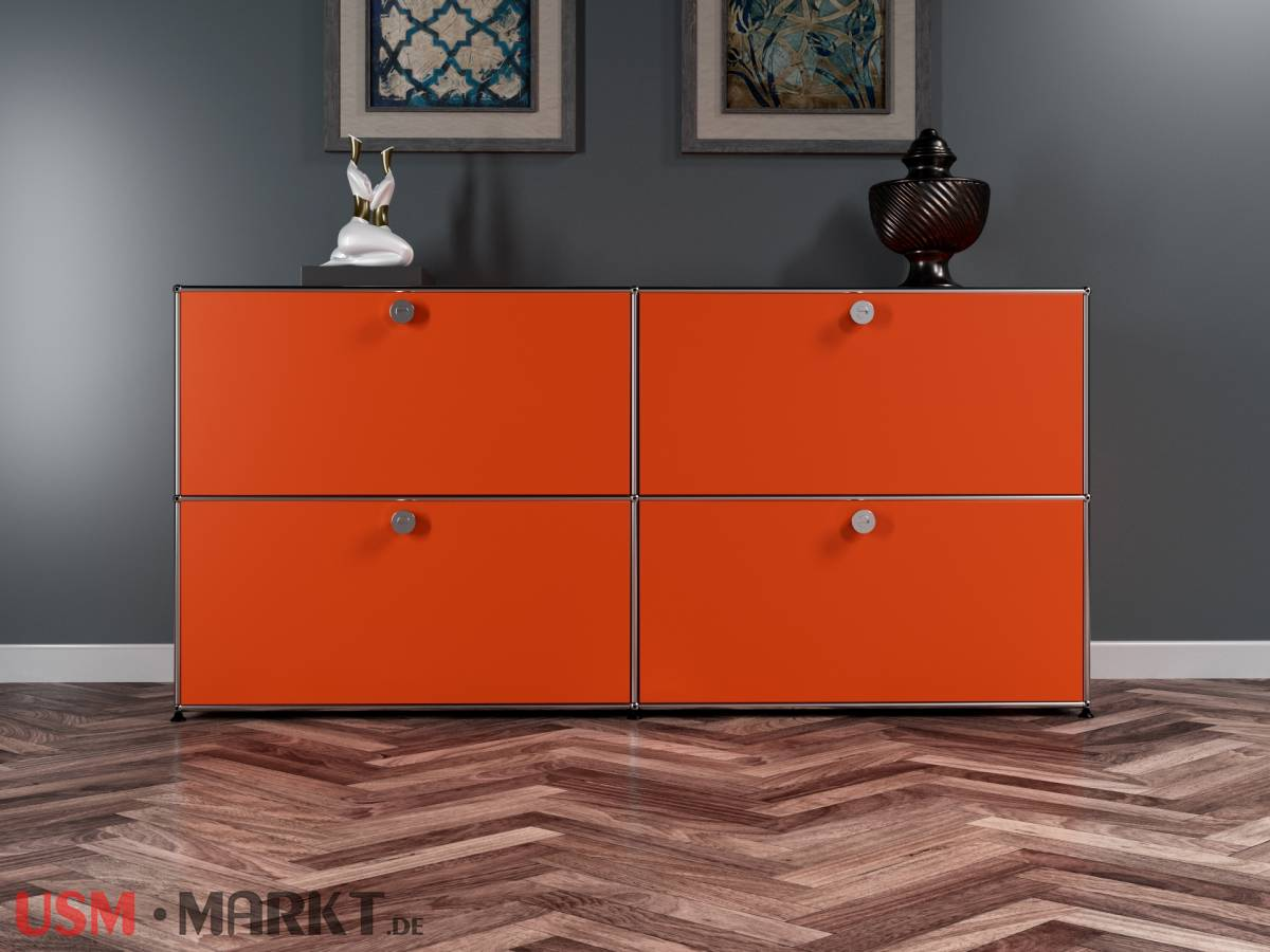 USM Haller Sideboard mit Klapptüren in orange