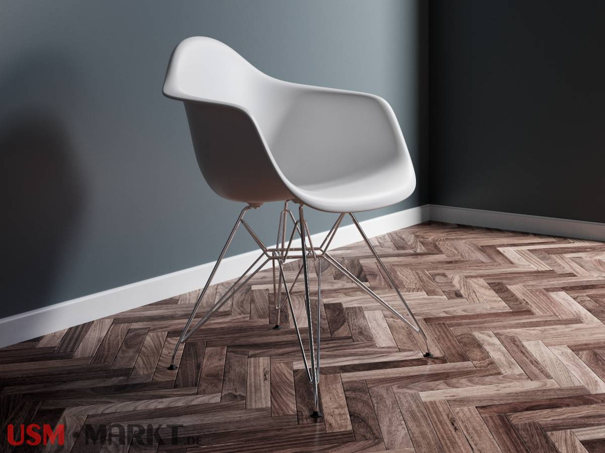Vitra Eames Plastic Chair Dar Mit Gestell In Chrom Weiss Usm Markt