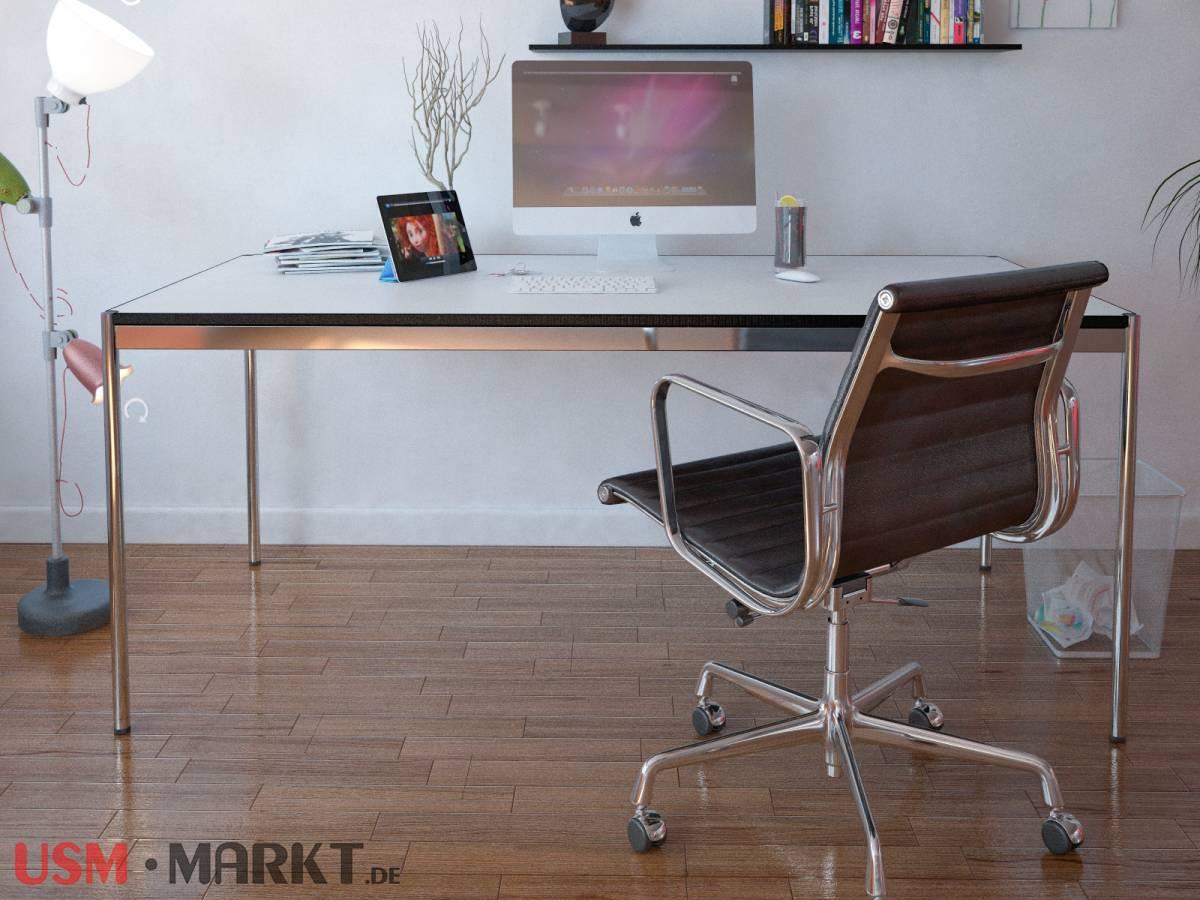 usm haller tisch 75x175 platte in perlgrau usm markt. Black Bedroom Furniture Sets. Home Design Ideas